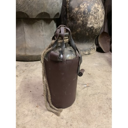 Glass Bottle in Leather Binding