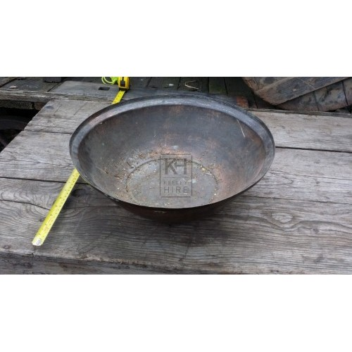 Large copper wash bowl