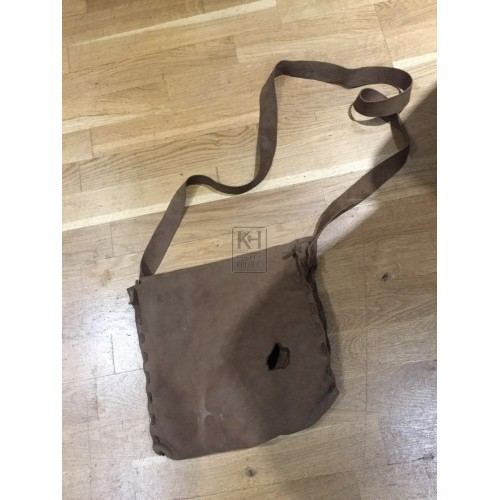 Light Brown Suede Satchel