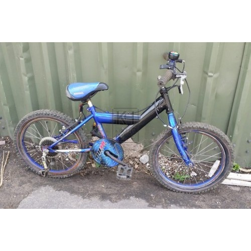 Childrens black & blue bicycle - modern