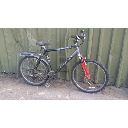 Modern black & silver adult bicycle