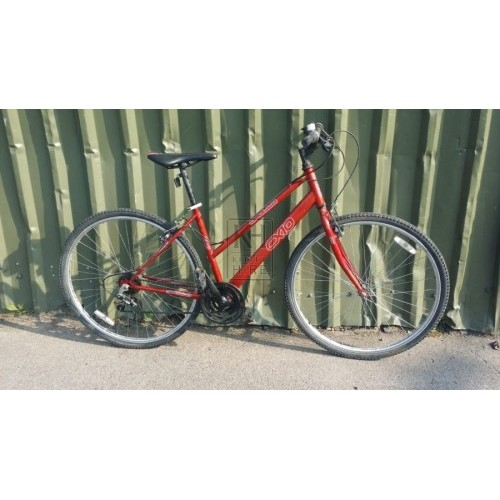 Modern red bicycle