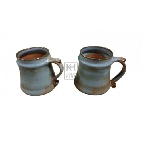 Small brown ceramic jug