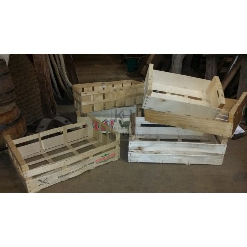 Assorted modern fruit crates
