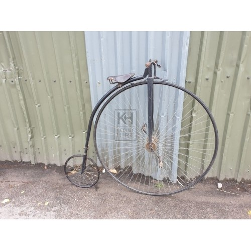Period penny farthing bicycle
