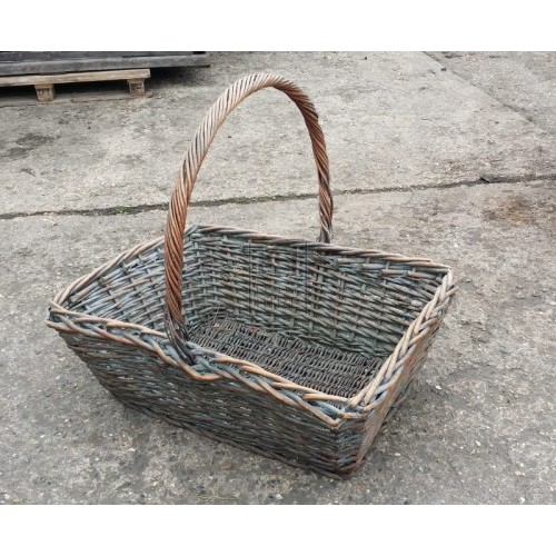 Very large wicker flower basket