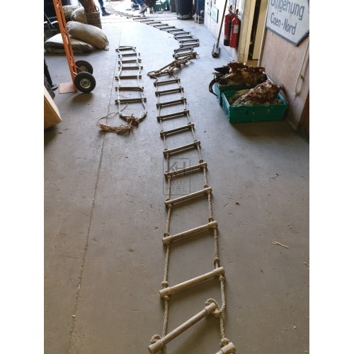 Very long rope ladder