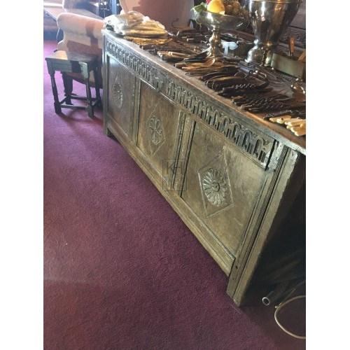 Large Carved Polished Chest