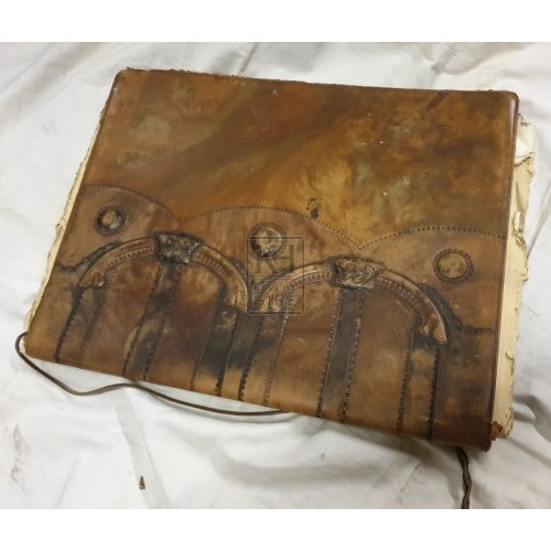 Ornate leather wallet