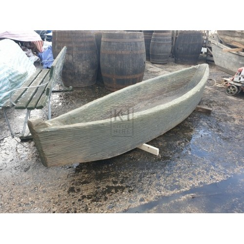 Large carved wood boat