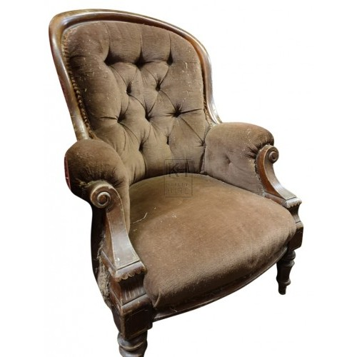 Cushioned period arm chair