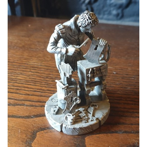 Small pewter model of blacksmith