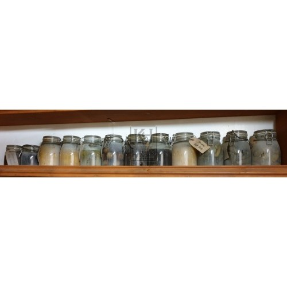 Glass kilner jar