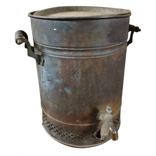 Large copper water urn