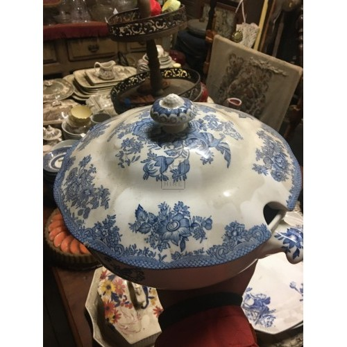 Round China Soup Tureen - Assorted