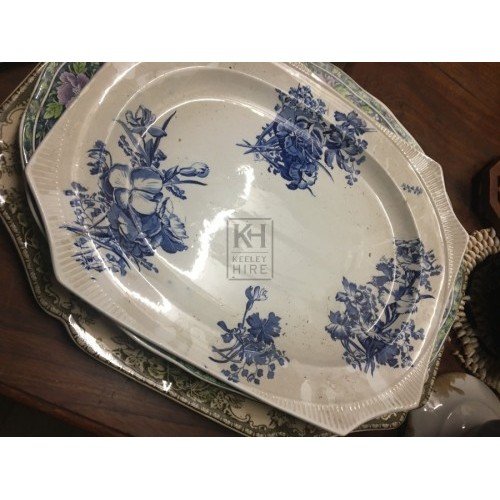 Rectangular China Serving Plate