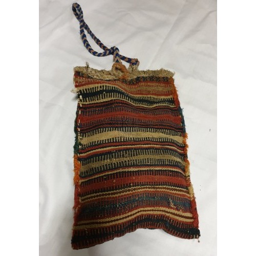 Striped material bag