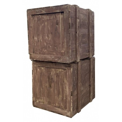 Large Brown Timber Crate