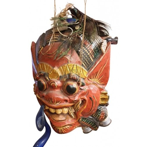 Red oriental mask