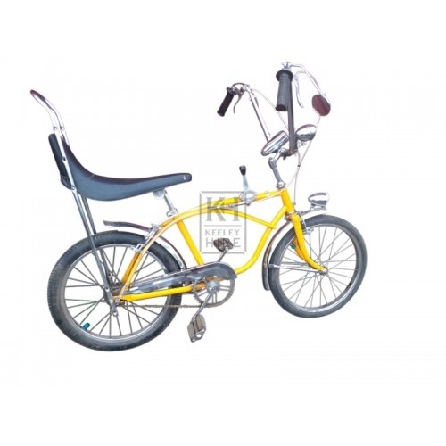 Retro yellow childs bicycle
