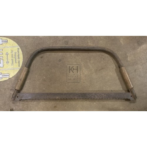 Metal Frame Bow Saw with Wood Grips