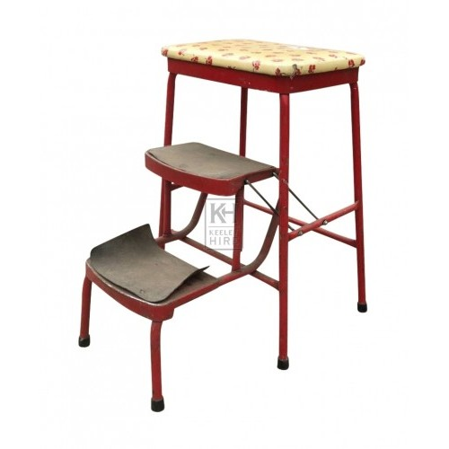 Modern floral pattern stool