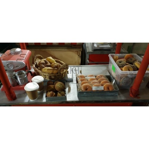 Bagel stall dressing for cart