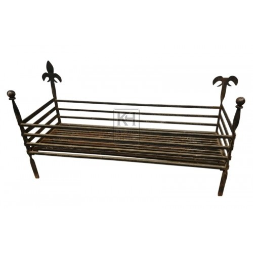 Large 4ft iron fire basket