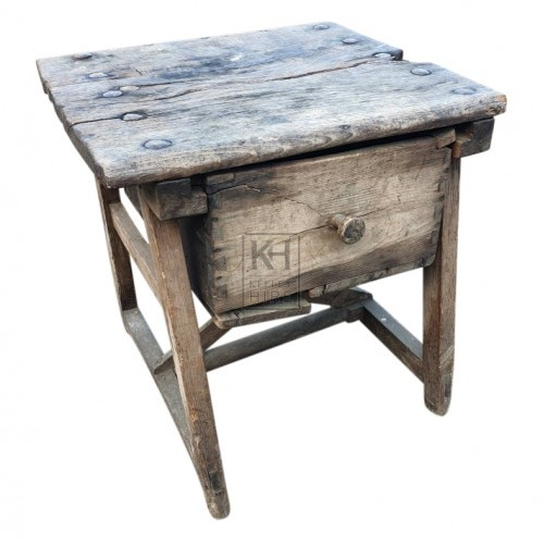 Rustic cupboard with draw