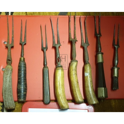 Assorted 2-prong forks