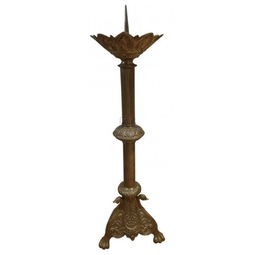 Ornate brass candle pricket