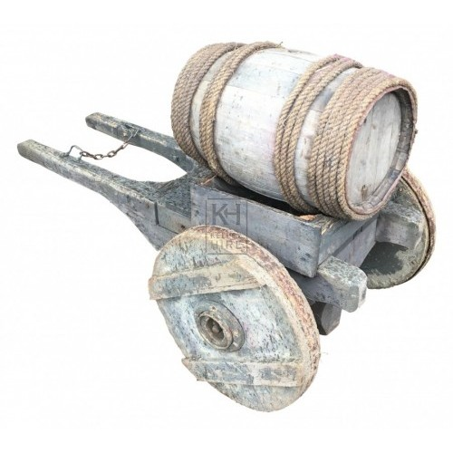 Solid Wheel Barrel Cart