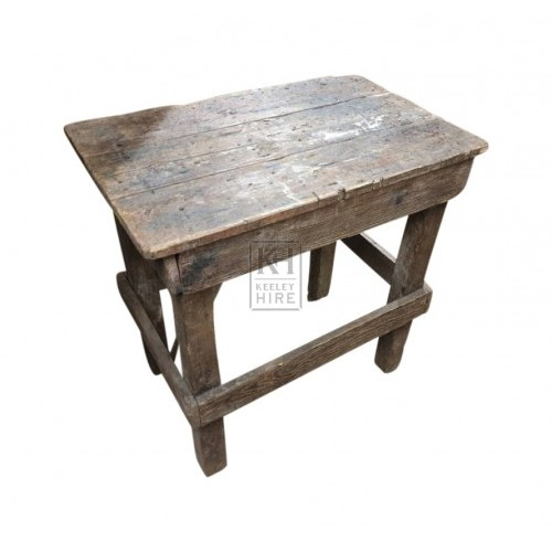 Planked wood rectangle table