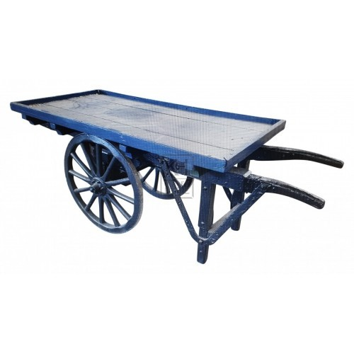 Small flat blue cart