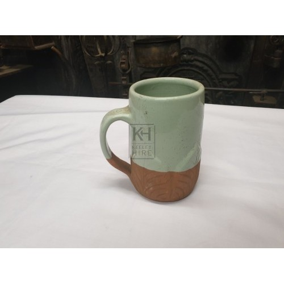 2-tone ceramic tankard