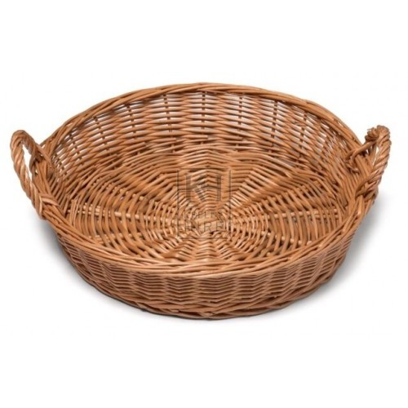 Small round wicker 2-handle basket