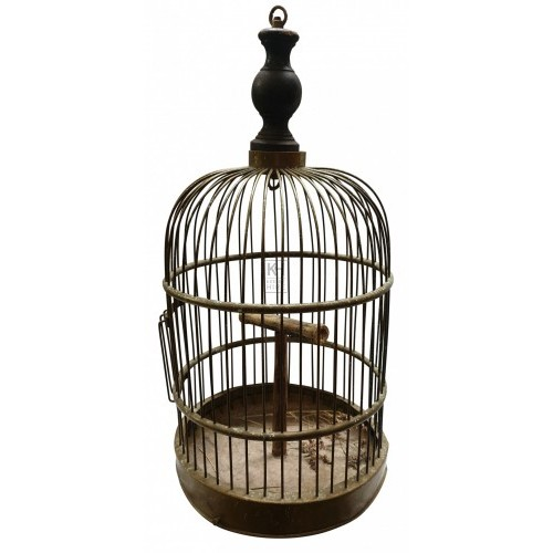 Copper dome bird cage