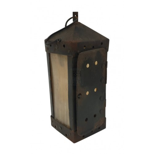 Small square horn lantern