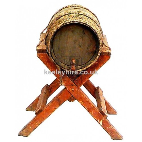 Barrel on Wood X-Frame