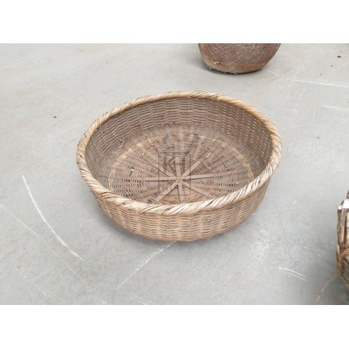 Bowl Shaped Woven Bamboo Basket