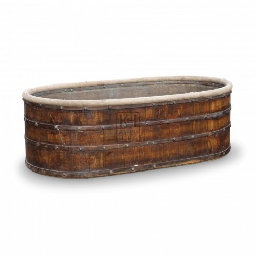 Oval Wooden Bath Tub