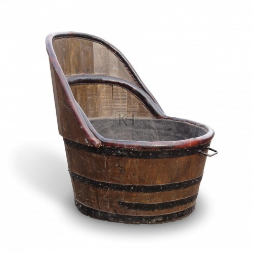 Round Bath Tub with High Back