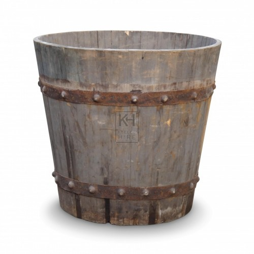 Large Iron Bound Bath Tub