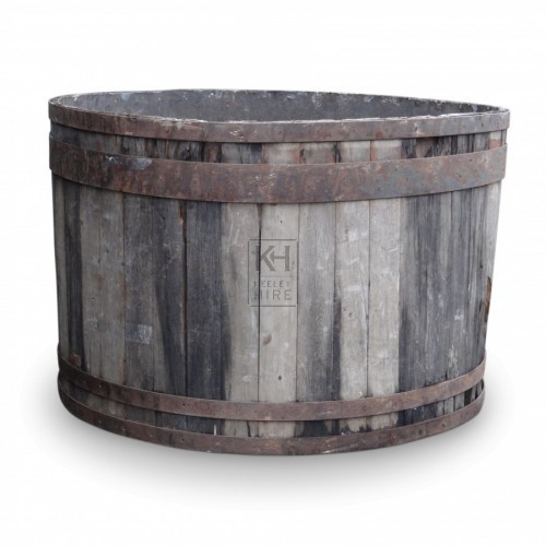 Very Large Round Wooden Bath Tub