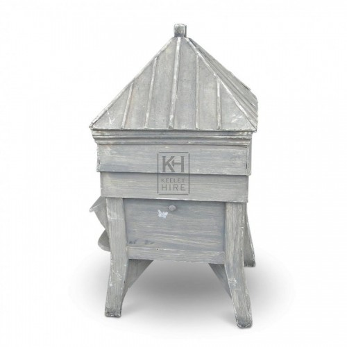 White Painted Wooden Hive