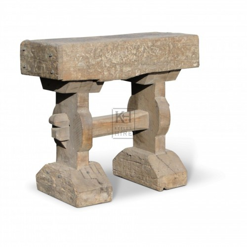 Thick Top Trestle Stool