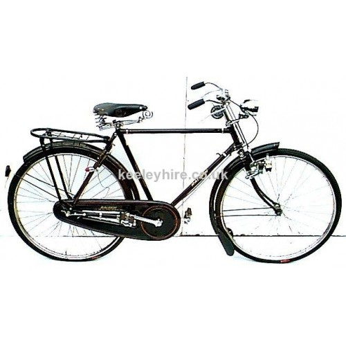 Period Gentlemens bicycle with rack
