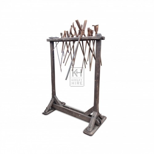 Blacksmiths Tool Rack with  Tools