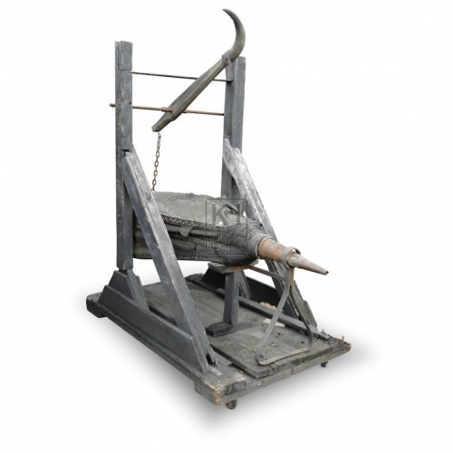 Large Blacksmiths Bellows On Stand