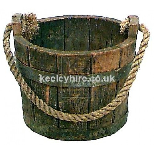 Iron Bound Bucket with Rope Handle #1